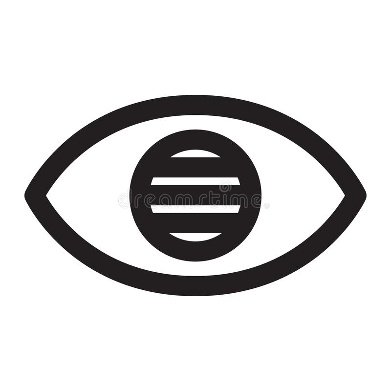 Blinde Augen vektor abbildung