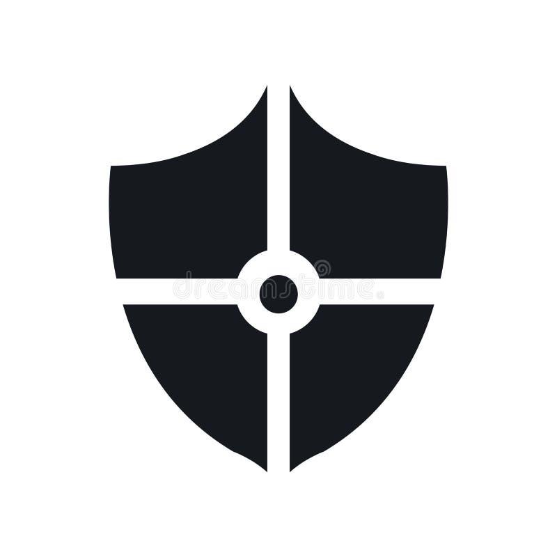 Blinde la muestra y el símbolo del vector del icono aislados en el fondo blanco, concepto del logotipo del escudo stock de ilustración
