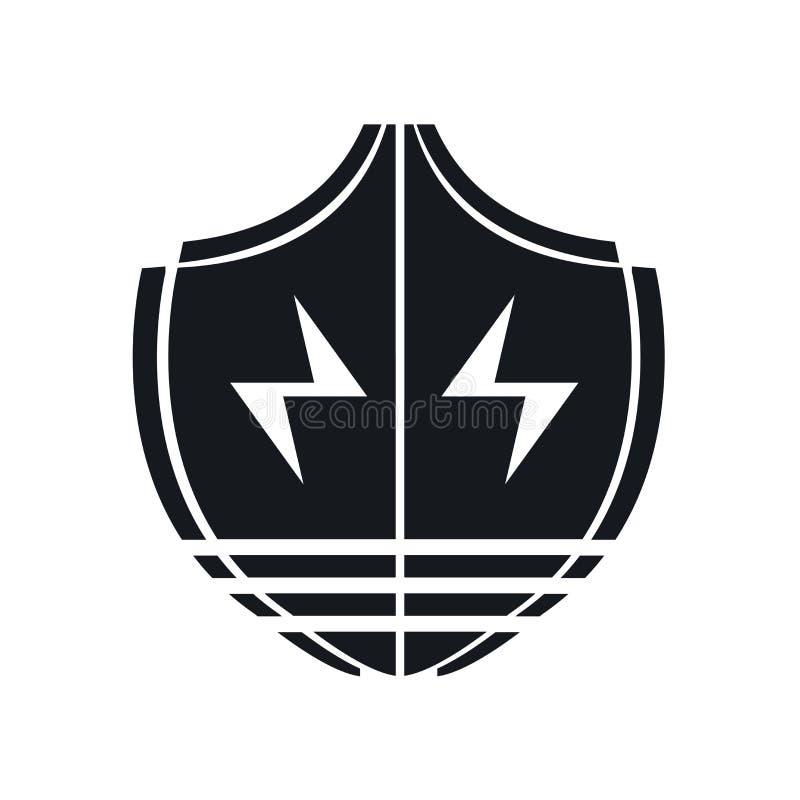 Blinde la muestra y el símbolo del vector del icono aislados en el fondo blanco, concepto del logotipo del escudo ilustración del vector