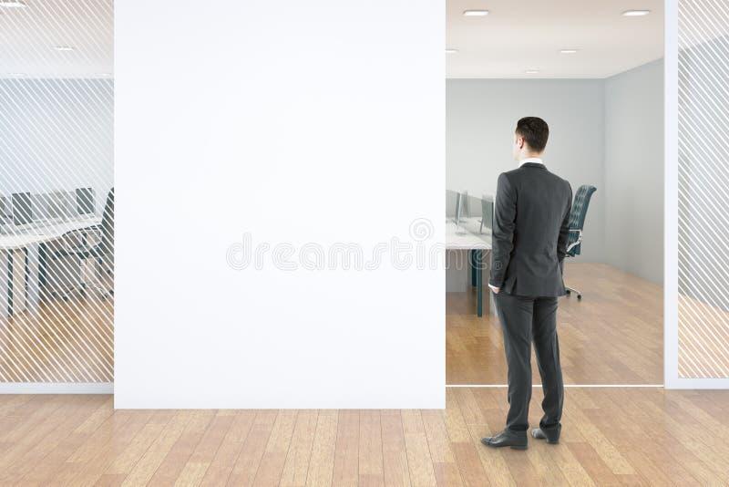 Blinde muur in bureau royalty-vrije illustratie