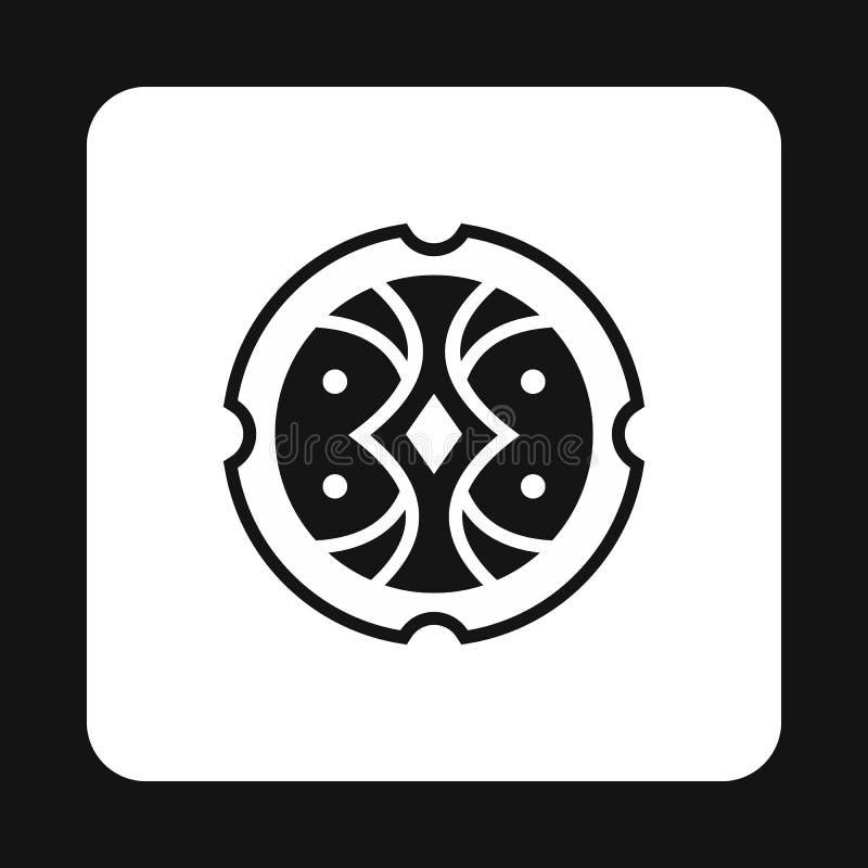Blinde para el icono que lucha, estilo simple stock de ilustración