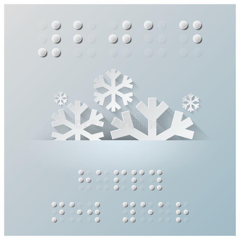 Blindenschrift-Alphabet-neues Jahr-Hintergrund stock abbildung