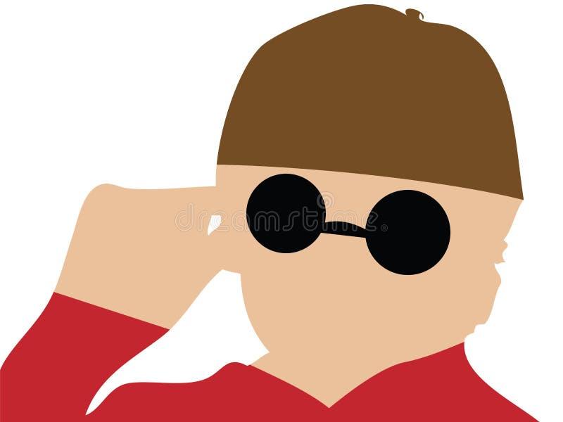Blinder Mann stock abbildung
