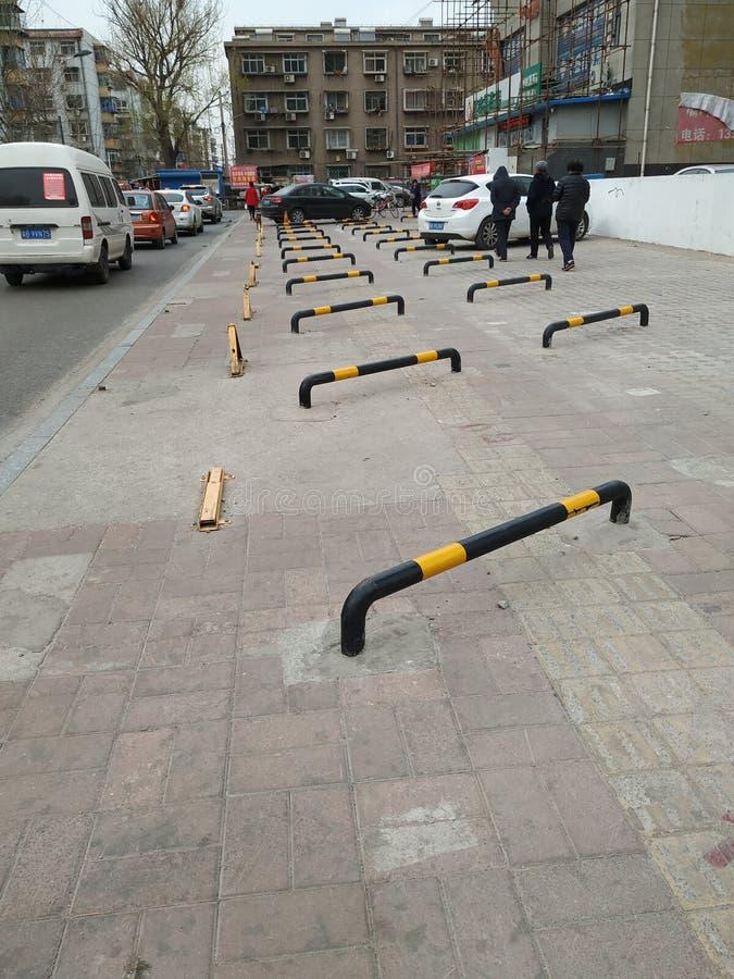 Blinder StraßenParkplatz stockfotos