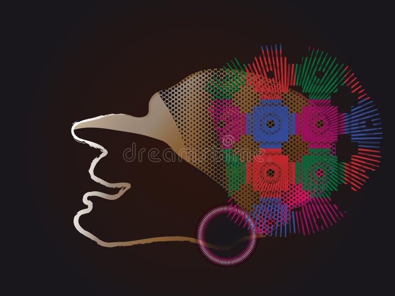 Blindes Profil. Vektorabbildung. lizenzfreie stockbilder