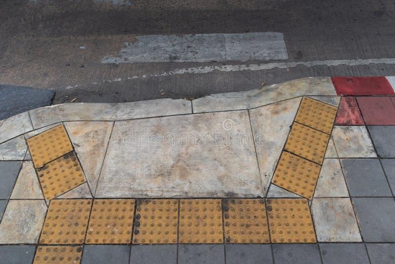 Blindes Zeichen des Zebrastreifens lizenzfreies stockbild