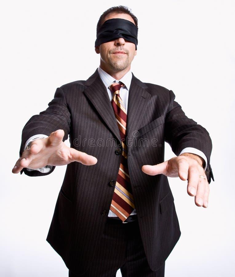 Download Blindfold επιχειρηματίας στοκ εικόνα. εικόνα από agedness - 17052661