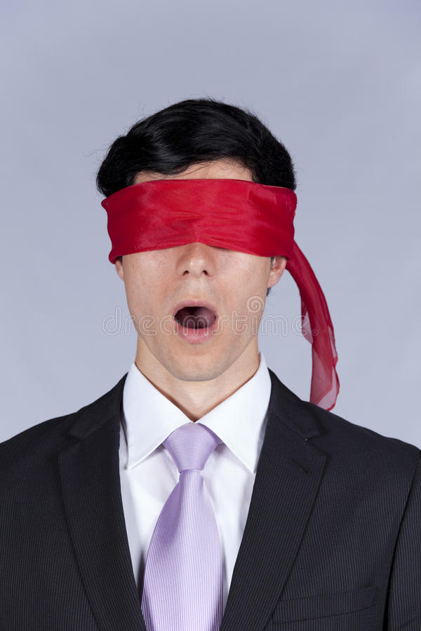 blindfold επιχειρηματίας στοκ εικόνες