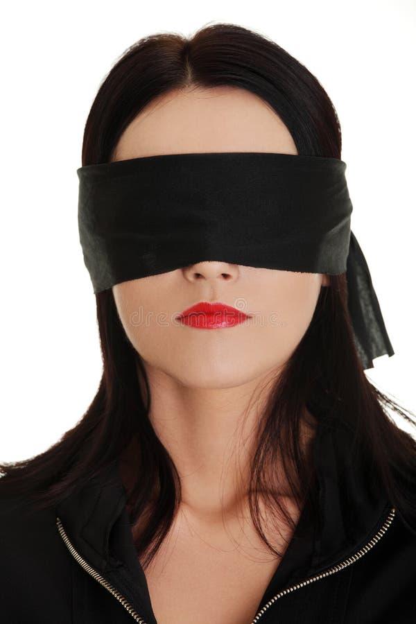 blindfold женщина дела стоковые изображения rf