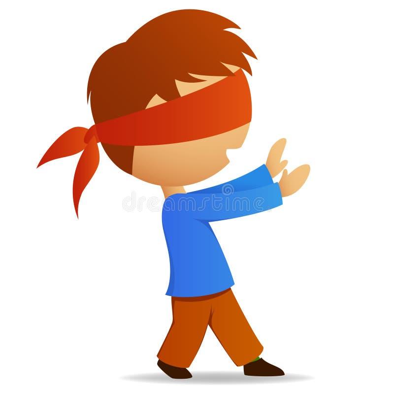 blindfold человек шаржа бесплатная иллюстрация
