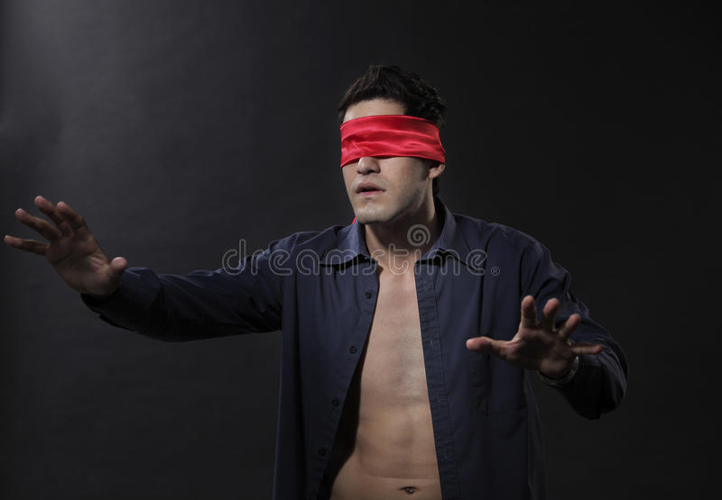 Download Blindfolded stock photo. Image of surprise, adult, shot - 24927152