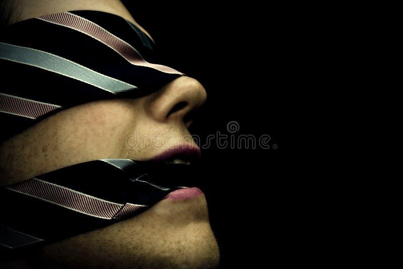 Blindfolded στοκ εικόνες