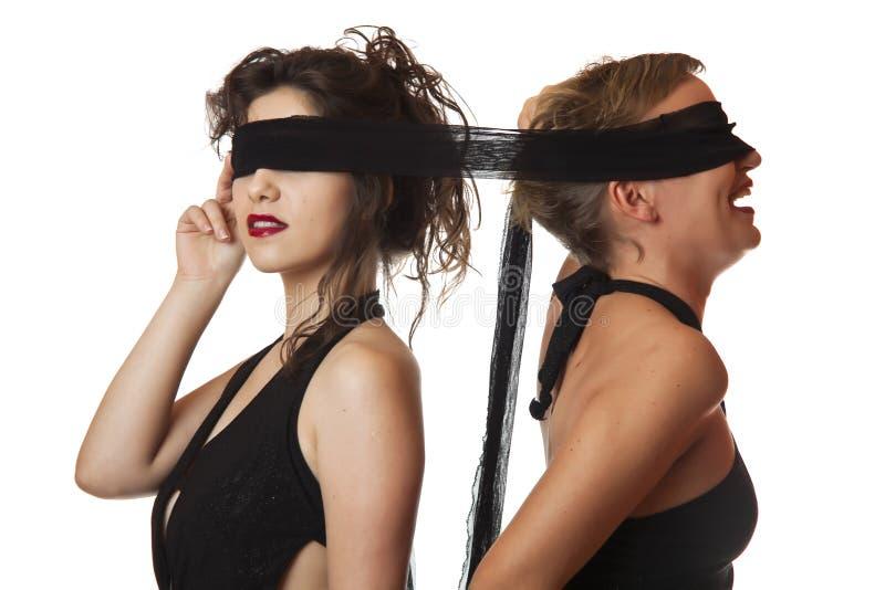 Blindfolded Women stock photos