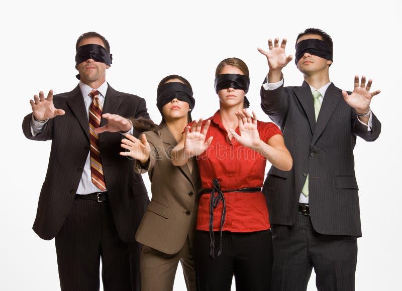Download Blindfolds επιχειρηματίες στοκ εικόνες. εικόνα από agedness - 17052224