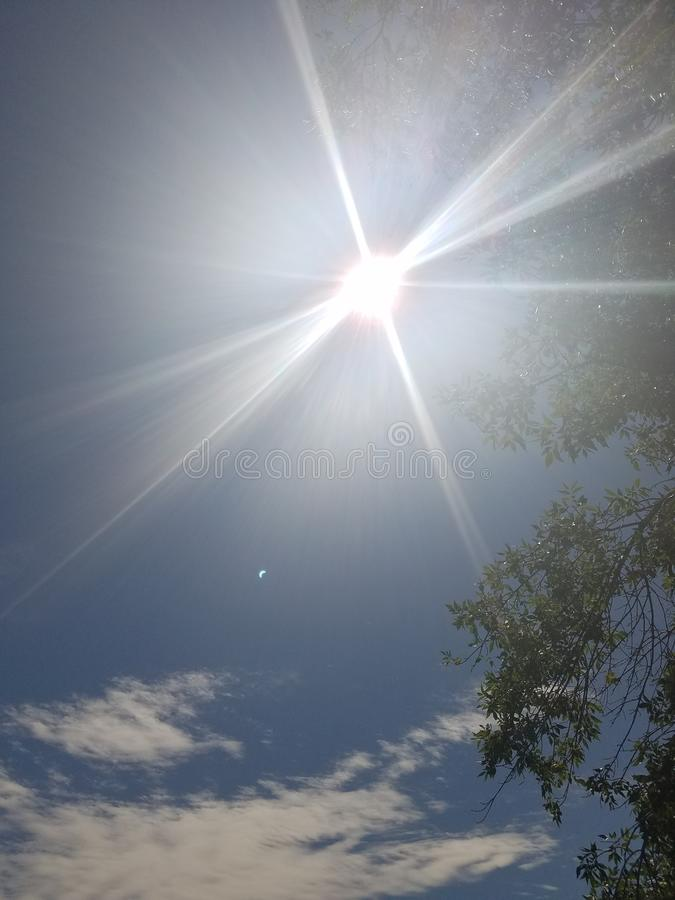 The Blinding Sun royalty free stock photography