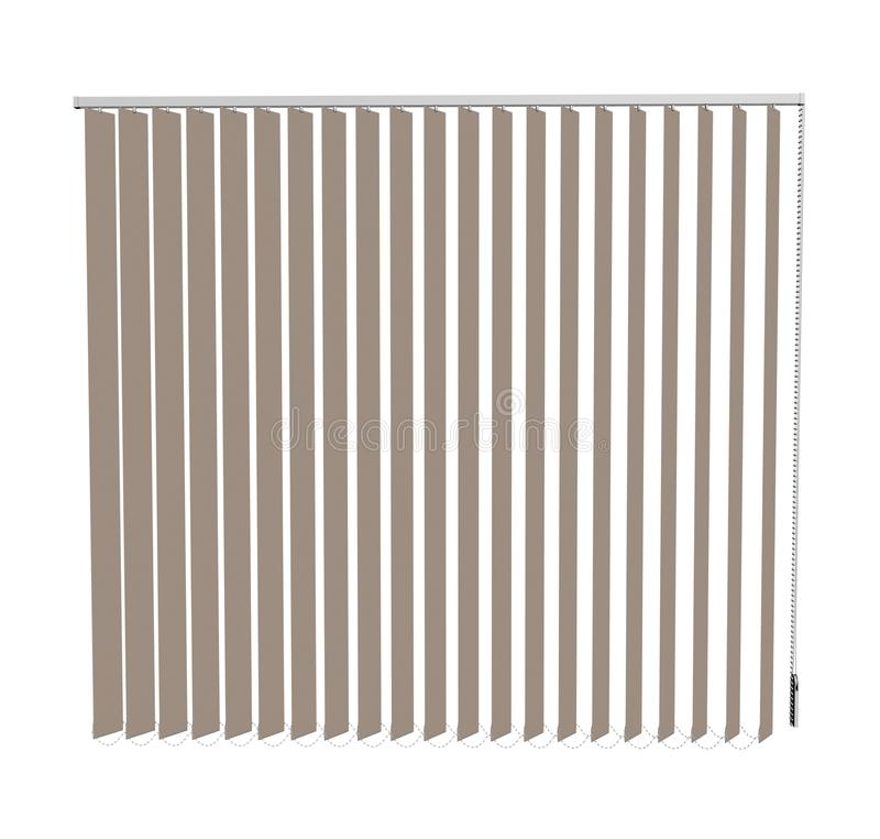 Blinds. Window plastic blinds in a shade of white stock illustration