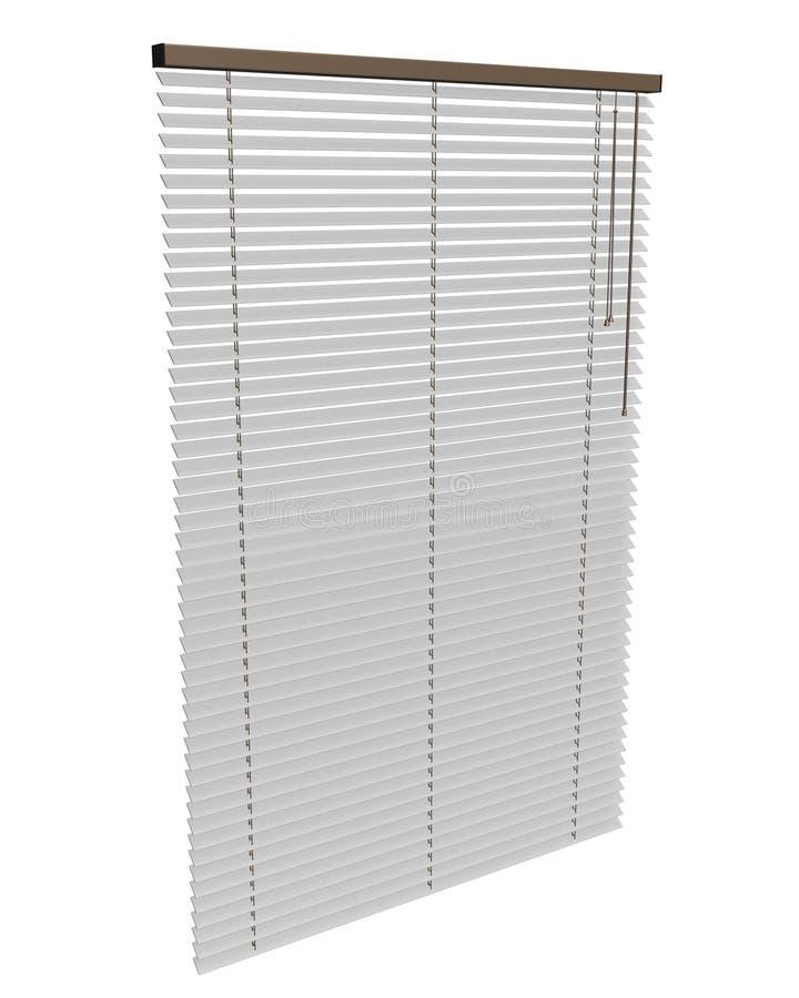Blinds. Venetian Blinds 3d max of white stock illustration