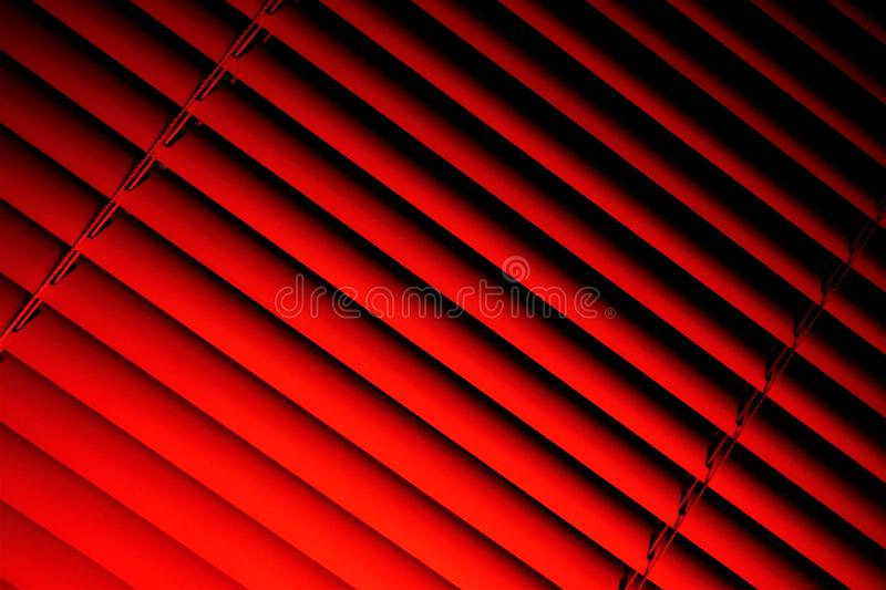 Blinds pink background—effective light protection devices from horizontal slats. Slats can be fixed or rotated, regulate light. And air flow. Blinds are royalty free stock photography