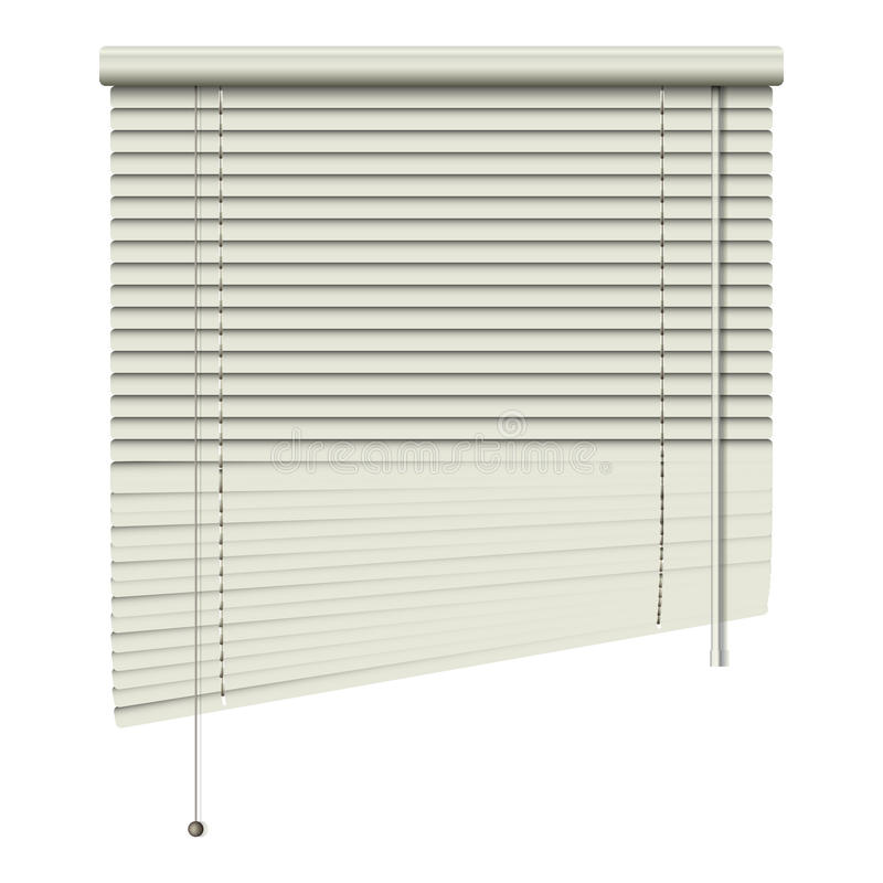 Blinds up. New open home related blinds isolated on white background can use like modern object vector illustration
