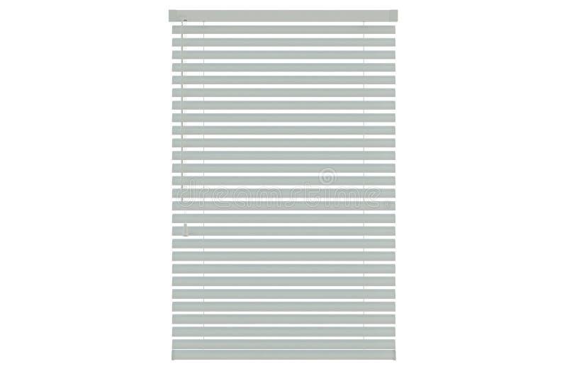 Blinds. White plastic blinds isolated on white background stock illustration