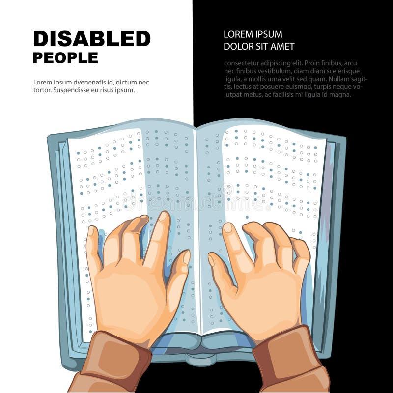 Blindskrifts bok vektor illustrationer