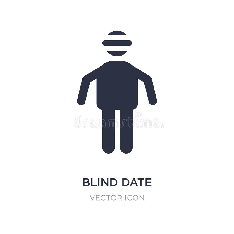blindträffsymbol på vit bakgrund Enkel beståndsdelillustration från folkbegrepp stock illustrationer