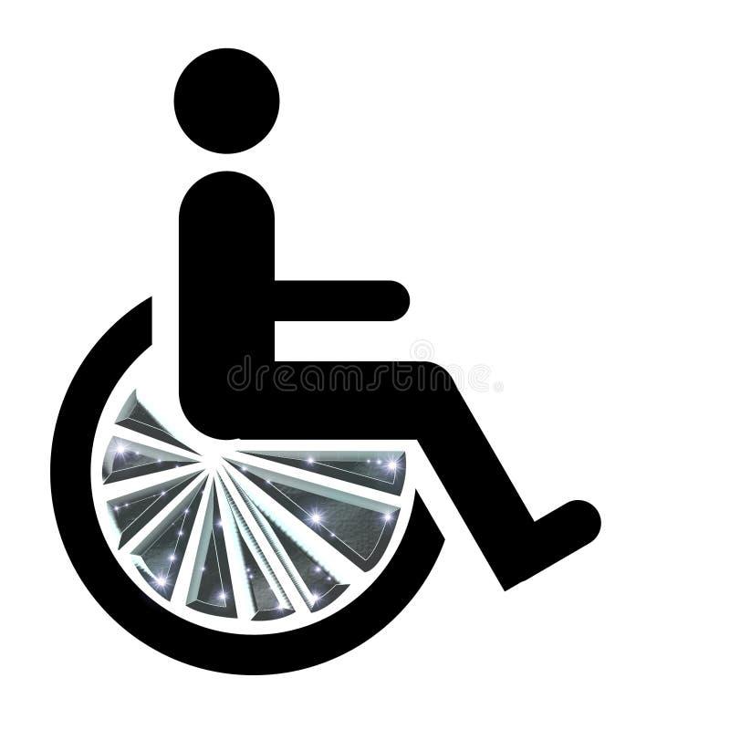 bling的椅子轮子 库存例证