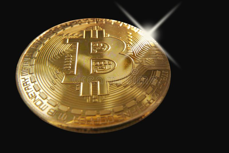 Bling σε ένα bitcoin στοκ εικόνες