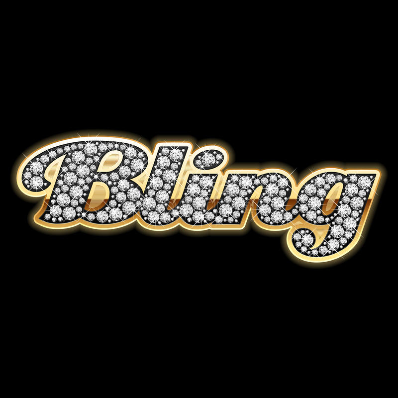 bling детальная иллюстрация диамантов