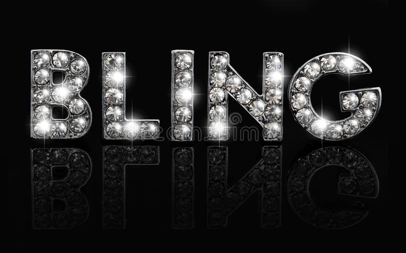 Bling on black royalty free stock photos