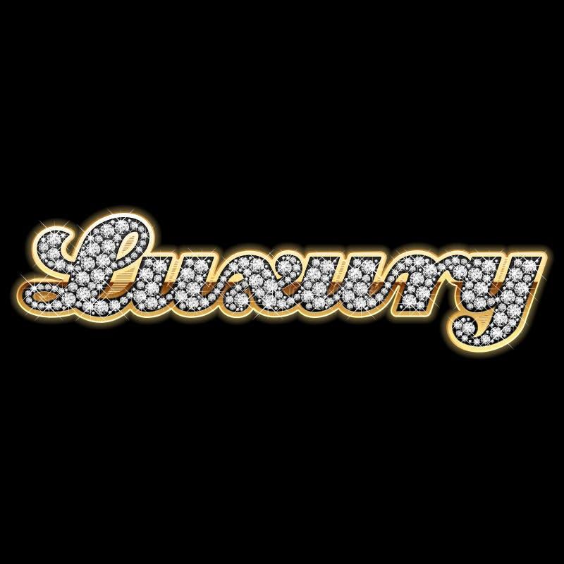 Bling-Bling luxe - - Diamanten. Gedetailleerde vector. stock illustratie