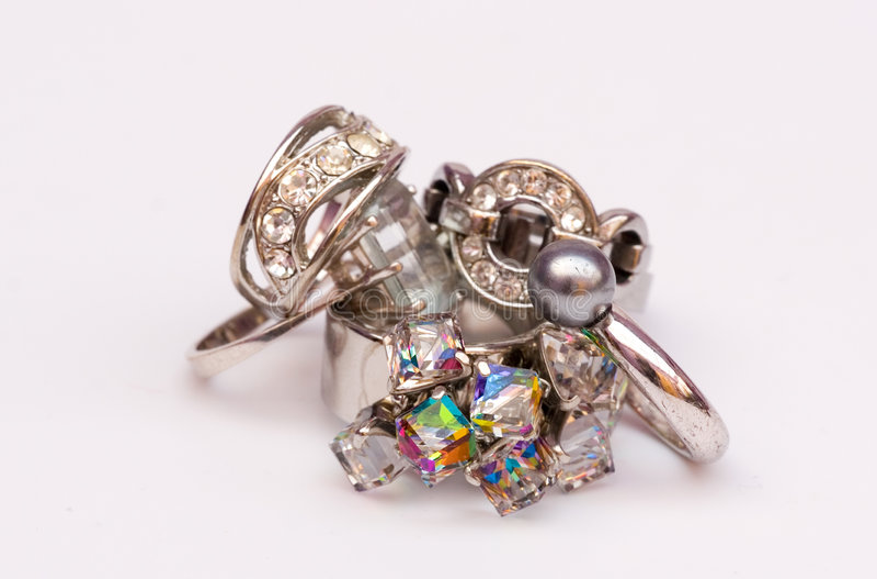 Bling bling rings stock photo