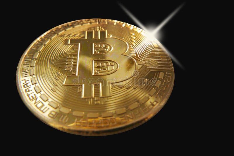 Bling che bling su un bitcoin fotografia stock