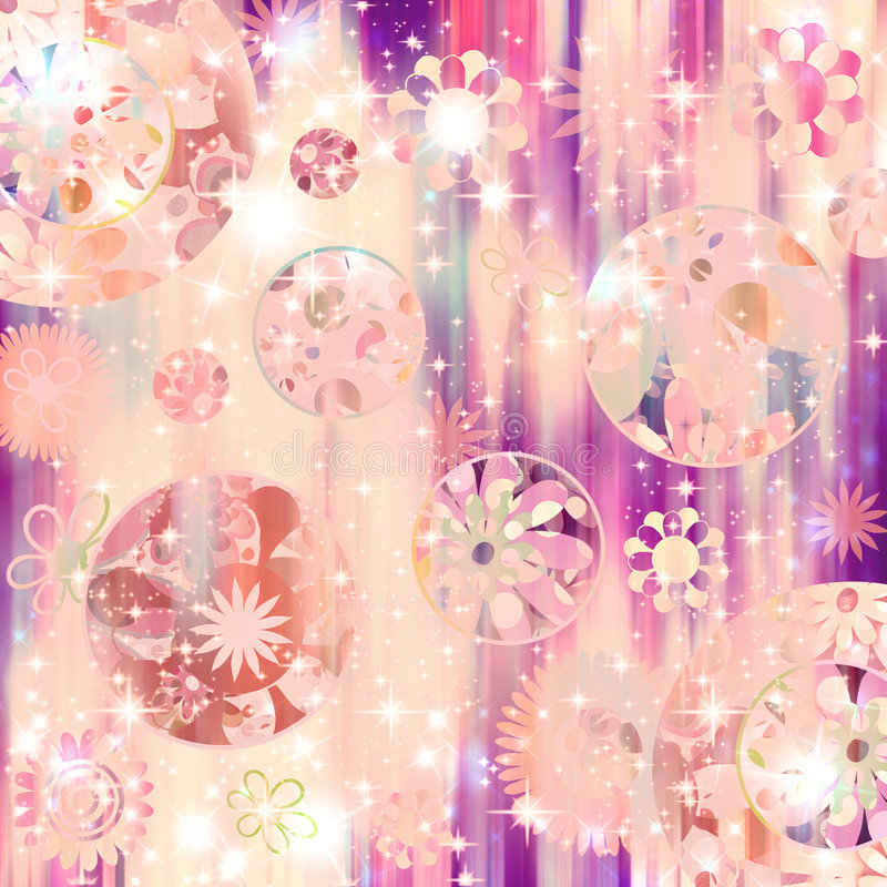 bling retro sparkle för blomma royaltyfri illustrationer