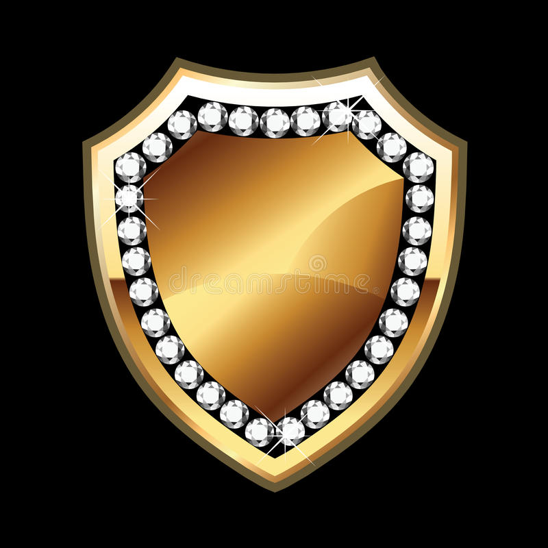 Bling shield royalty free illustration