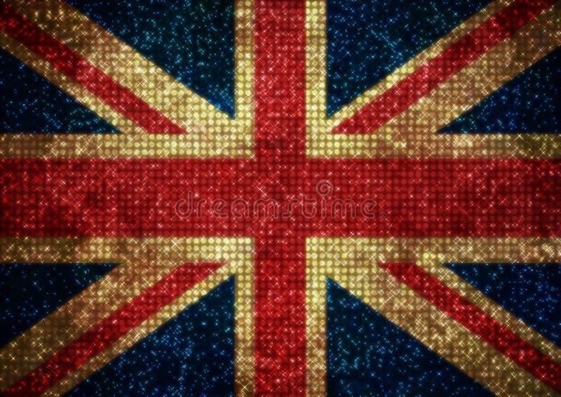 Bling UK sjunker royaltyfri illustrationer