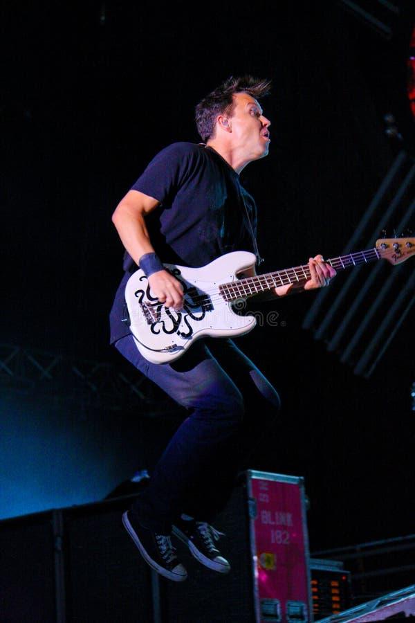 Blink 182. Performing at Rock en Seine 2010 stock photos