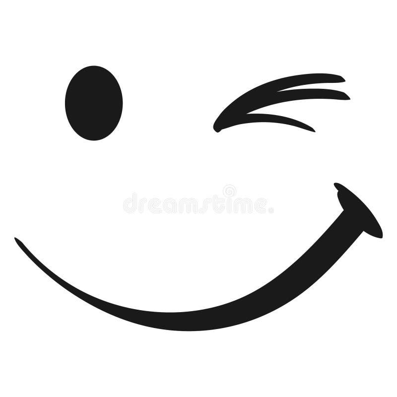 Blinka vektorvektorn, Eps, logo, symbol, konturillustration vid crafteroks f?r olikt bruk Bes?ka min website p? https://craf royaltyfri illustrationer