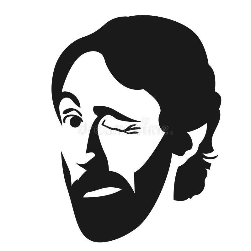 Blinka vektorvektorn, Eps, logo, symbol, konturillustration vid crafteroks f?r olikt bruk Bes?ka min website p? https://craf vektor illustrationer