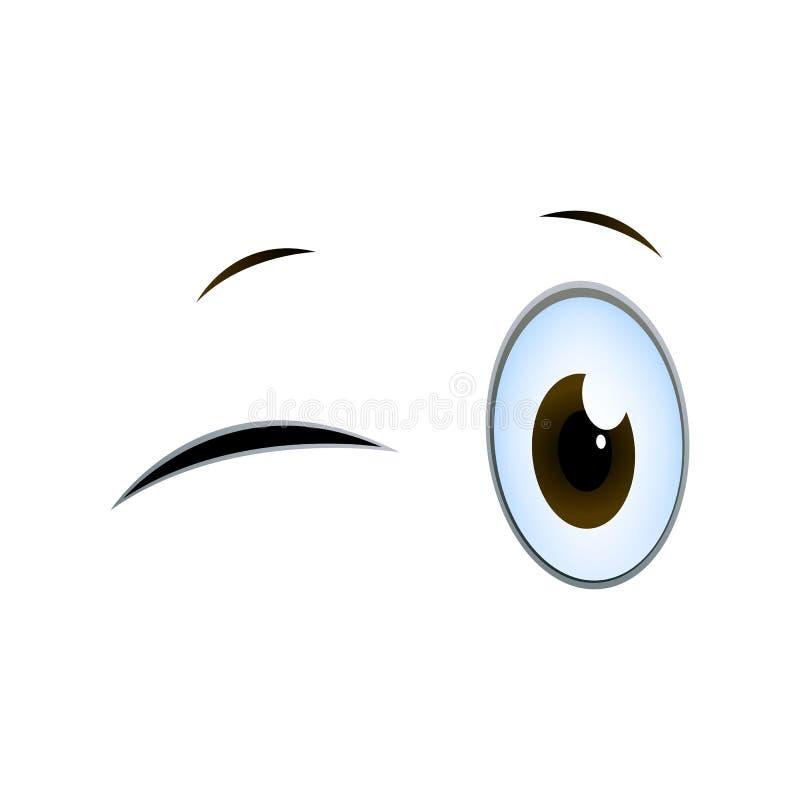 Blinking Cartoon Eyes. Illustration of Blinking Cartoon Eyes on a White Background vector illustration