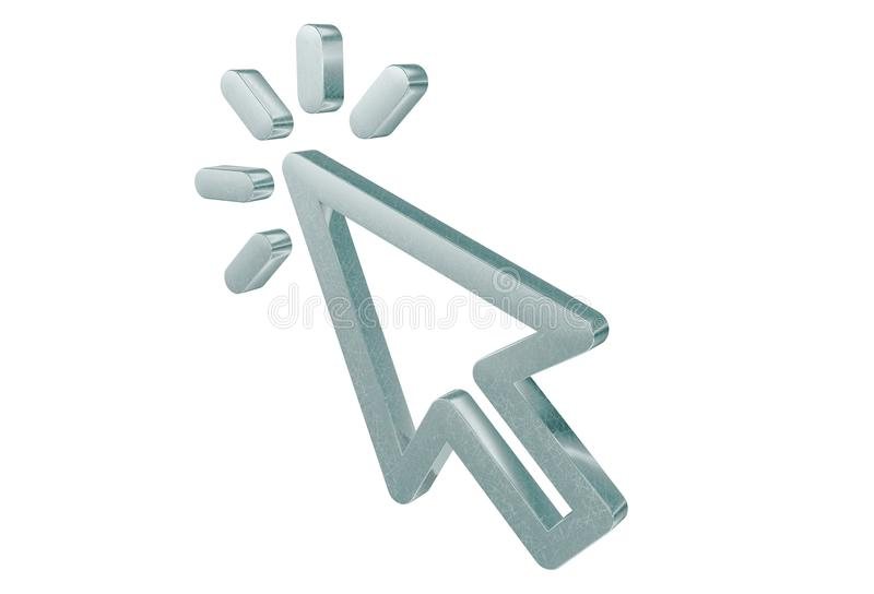 Blinking 3D Cursor Arrow vector illustration