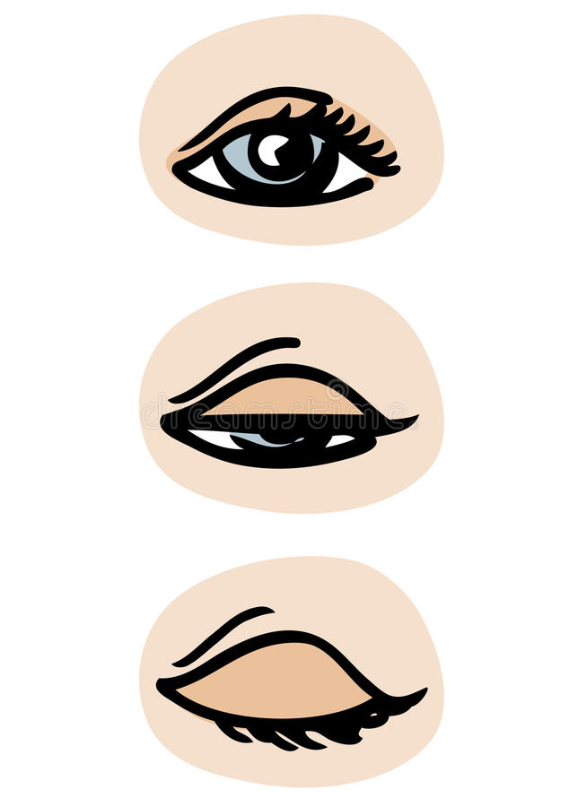 Blinking eye royalty free illustration