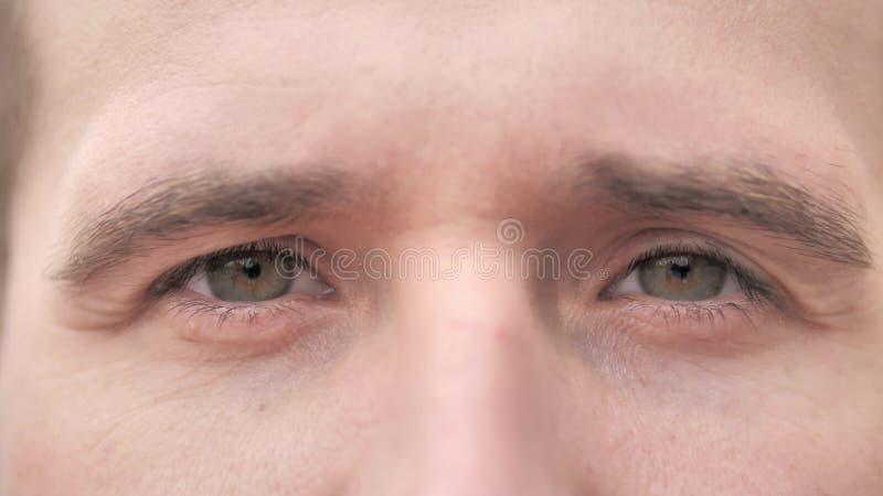 Blinking Eyes of Beard Casual Man stock foto's