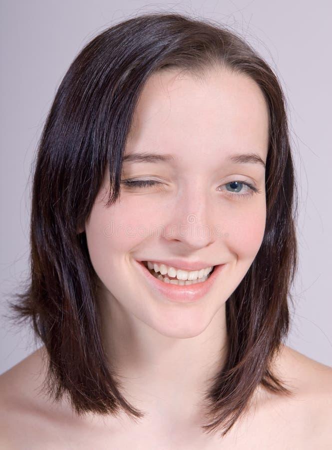 blinking girl στοκ εικόνες