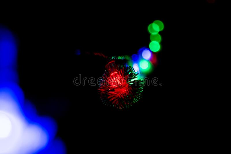 Blinking Lights long - Christmas, New Year decorations 02 stock photo