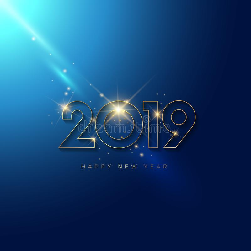 Blinking New Year Design. File is fully layered for ease of editing royalty free illustration