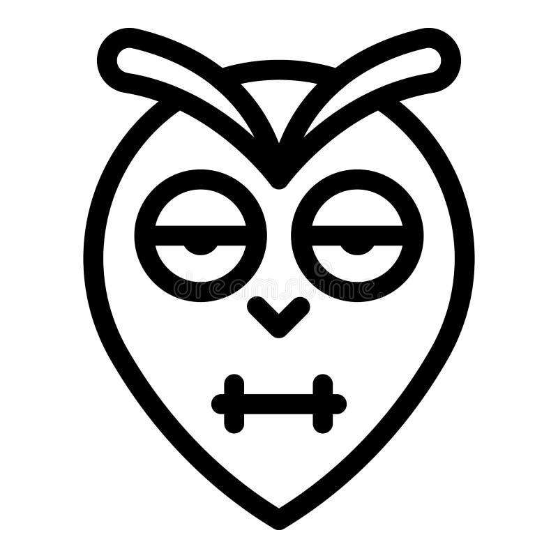 Blinking owl head icon, outline style. Blinking owl head icon. Outline blinking owl head vector icon for web design isolated on white background royalty free illustration