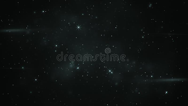 Blinking stars abstract illustration. Blinking stars. Computer generated abstract illustration royalty free illustration
