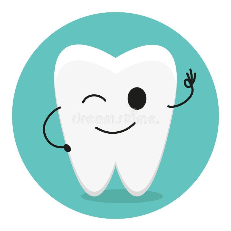 Blinkning tandtecken, vektor royaltyfri illustrationer