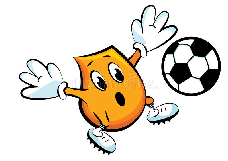 Blinky playing soccer royalty free illustration
